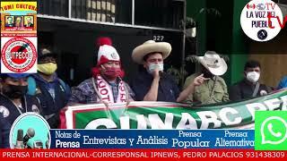 RONDEROS ANUNCIAN MOVILIZACION NACIONAL PARA EL SAB 19 EN PLAZA SAN MARTIN 3PM