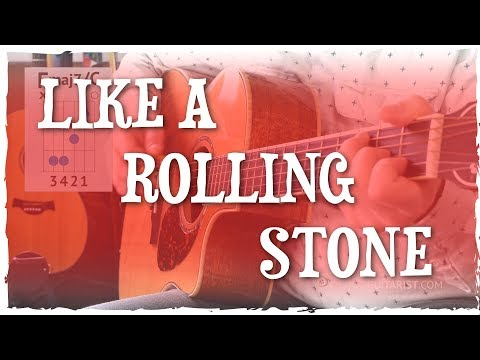 """Like A Rolling Stone"" Guitar Tutorial | Bob Dylan (Basic Chord Shapes + Strumming)"