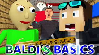 BALDI'S BASICS IN MINECRAFT! (Official) Baldi Minecraft Animation Horror Game