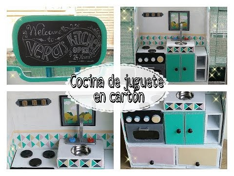 Juguete Cocina Cartón Con Para Niñosparte 1Manualidades De 2ED9IYWH