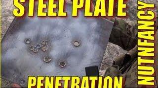 Steel Plate Penetration Tests 762mm 556mm
