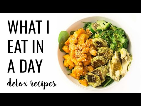 16. WHAT I EAT IN A DAY: easy detox recipes