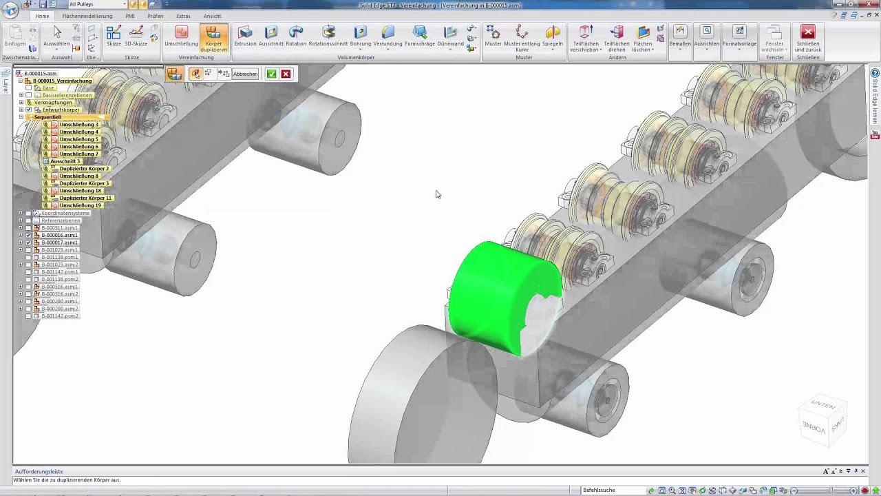 Vorschaubild: Solid Edge Tutorial: Vereinfachung von Baugruppen