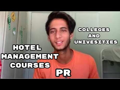 HOTEL MANAGEMENT & HOSPITALITY COURSES | PR | UNIVERSITIES & COLLEGES
