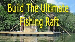 How to Build a Raft From Storage Bins - DIY fishing raft