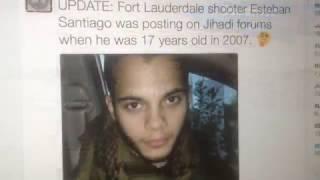 Breaking news Ft. Lauderdale Airport Muslim Sympathizer Esteban Santiago