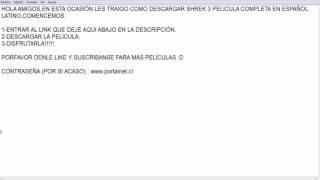 COMO DESCARGAR SHREK 3 PELICULA COMPLETA ESPAÑOL LATINO