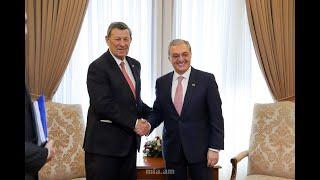 Встреча Зограба Мнацаканяна с министром иностранных дел Уругвая Родольфо Нин Новоа