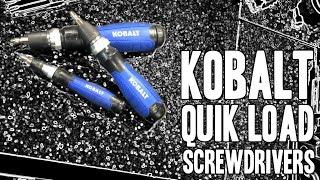 Kobalt QL3 Quik Load Screwdrivers