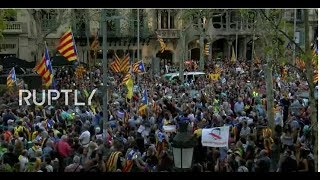 BCN: Huge rally in the streets of Barcelona today as Madrid moves to oust the Catalan government and