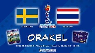 SCHWEDEN - THAILAND 5:1 | 16.06.2019 | FIFA Womens World Cup France 2019 - Panini Sticker Orakel