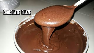 chocolate glaze for donuts made with cocoa powder