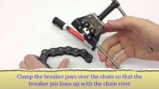 BearingShopUK   Splitting A Chain With A Chain Breaker