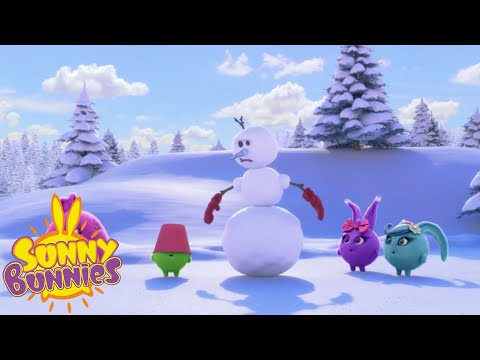 Download SUNNY BUNNIES - Building a Snowman   Season 4   Cartoons for Children Mp4 HD Video and MP3