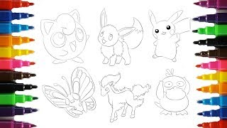 Pokemon Coloring Pages | Pikachu And Friends | Coloring Book Fun | Speed Coloring