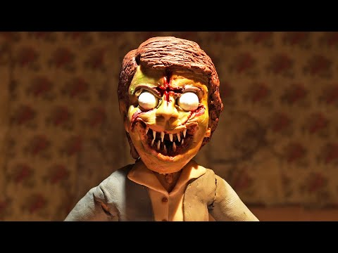 I created a STOP MOTION exorcism! 50+ hours of work for 15 seconds of clay animation.