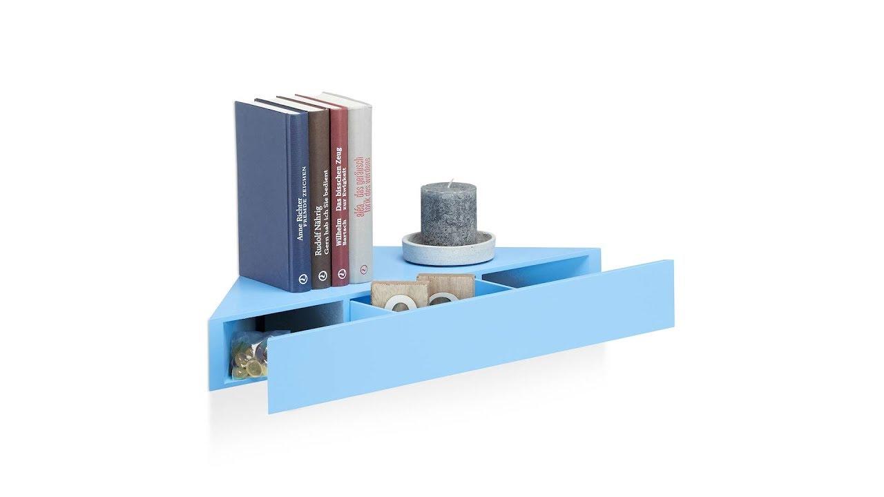 eck wandregal mit schublade kaufen. Black Bedroom Furniture Sets. Home Design Ideas