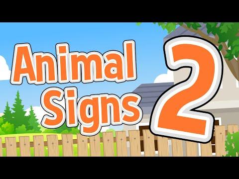 Animal Signs 2 | Domestic and Farm Animals | Jack Hartmann