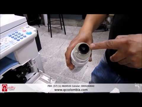 Cambio de Toner Fotocopiadora Ricoh Mp 201