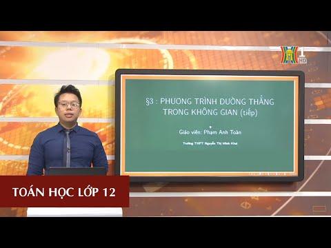 MÔN TOÁN HỌC - LỚP 12 | PHƯƠNG TRÌNH ĐƯỜNG THẲNG TRONG KHÔNG GIAN (TIẾT 2) | 14H30 NGÀY 09.04.2020 (HANOITV)