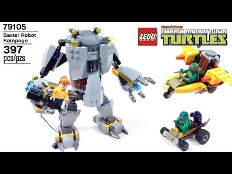 Vidéo LEGO Tortues Ninja 79105 : L'attaque du robot de Baxter