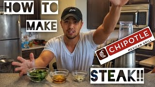 HOW TO MAKE CHIPOTLE STEAK!!!!
