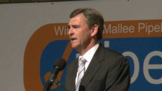 preview picture of video 'John Brumby - Completion of the Wimmera Malle Pipeline'