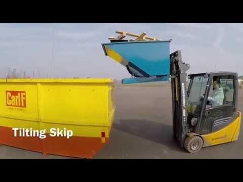Tipcontainer åben - Rustfri
