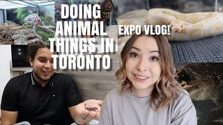 Toronto Reptile Expo And Other Animal Things?? Vlog??