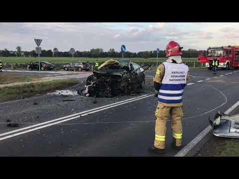 Wideo1: Wypadek śmiertelny na trasie Gostyń - Krobia