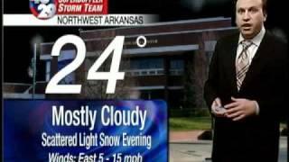 Winter Weather Hits Okla., Western Ark. Sunday