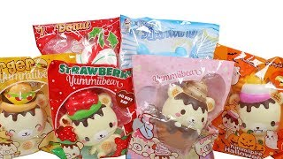 Yummiibear Squishies Unboxing Toy Review Slow Rise Scented Squishy Yummii Bear