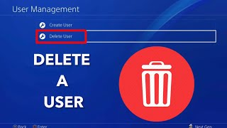 How to delete a USER & delete your PSN account on PS4!