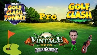 Golf Clash tips, Playthrough, Hole 1-9 - PRO - TOURNAMENT WIND! Vintage Open Tournament!