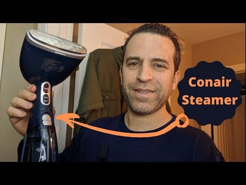 Conair Turbo ExtremeSteam Advanced Handheld Fabric Garment Steamer Review and Demo