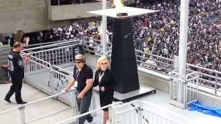 Ann Margret Lights the Torch in Remembrance of Al Davis - Redskins vs Raiders
