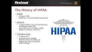 History of HIPAA & HITECH 101