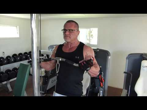 Wide grip cable curls 1 set performed 1st...