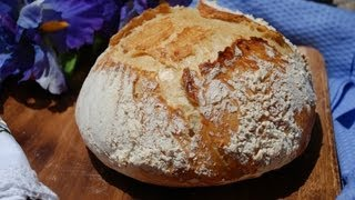No Knead Country Bread