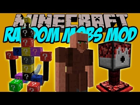 RANDOM MOBS MOD - Criaturas muy WTF!!! - Minecraft mod 1.7.10 Review ESPAÑOL
