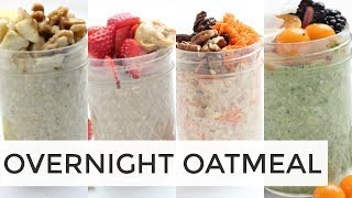 How To Make Overnight Oatmeal | 4 MORE Easy Healthy Recipes