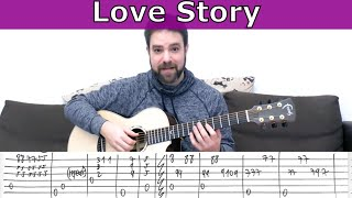 Fingerstyle Tutorial: Love Story (Andy Williams) - Guitar Lesson w/ TAB