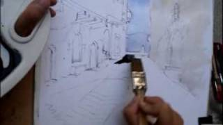 preview picture of video 'Painting with watercolour in Salas de Pallars'