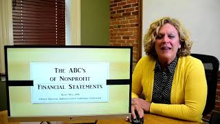 The ABC's of Nonprofit Financial Statements - Ten Minute Talks