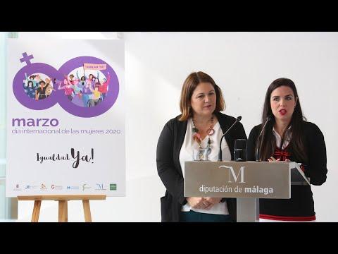 Presentación del programa de actividades de la Diputación de Málaga con motivo del Día Internacional de la Mujer