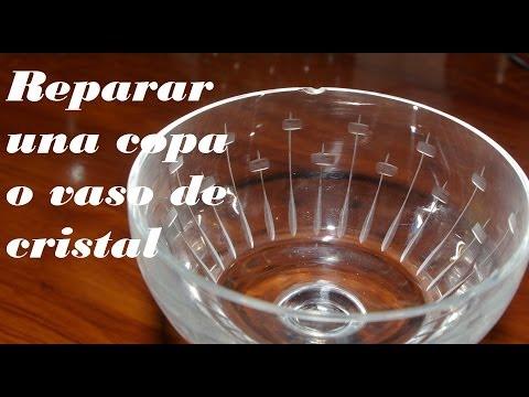 ARREGLAR COPA O VASO ROTO. Fix DRINK OR BROKEN GLASS.