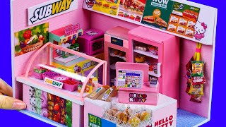 DIY Miniature Shop - Decorate Kittys Subway Shop !! Sandwich Toppings, Cookies ~