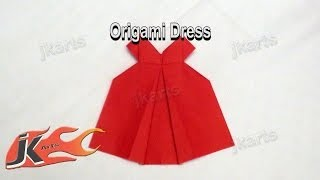 preview picture of video 'DIY How to make Origami Dress | JK Arts 090'