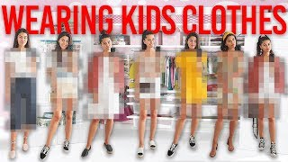 Wearing KIDS CLOTHES For A WHOLE WEEK!! *SOOO EMBARRASSING*