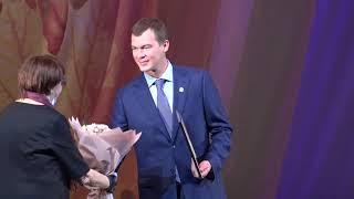 Врио губернатора Михаил Дегтярев принял участие в торже...